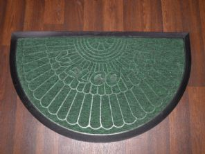 NON SLIP DOORMATS 45X75CM RUBBER BACK GOOD QUALITY ALL COLOURS HALF MOON GREEEN